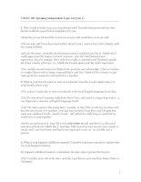 TOEFL iBT Speaking Independent Topic List (Qu. 1) pot