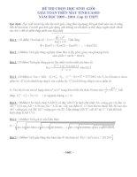 ĐỀ THI CHỌN HỌC SINH GIỎI GIẢI TOÁN TRÊN MÁY TÍNH CASIO NĂM HỌC 2009 – 2010 - Lớp 12 THPT - Phần 5 pdf