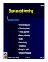 Sheet-metal forming Subjects of interest doc