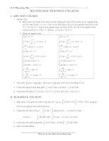 nguyên hàm, tích phân và ứng dụng