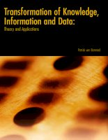 transformation of knowledge information and data theory and applications