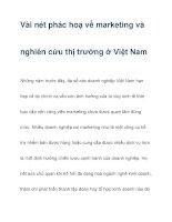 Vài nét phác hoạ về marketing và nghiên cứu thị trường ở Việt Nam docx