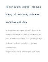 Nghiên cứu thị trường – nội dung không thể thiếu trong chiến lược Marketing pdf