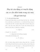 tính toán thiết kế hệ thống truyền động điện trong máy cắt gọt kim loại, chương 4 ppsx