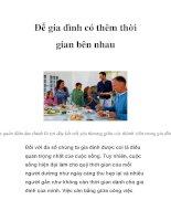 Để gia đình có thêm thời gian bên nhau pdf