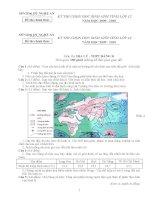 Đề thi chọn HSG địa lý 12 tỉnh Nghệ An năm 2009 - 2010 potx