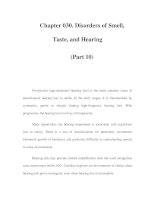 Chapter 030. Disorders of Smell, Taste, and Hearing (Part 10) docx