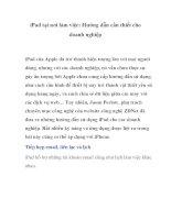 iPad tại nơi làm việc: Hướng dẫn cần thiết cho doanh nghiệp- P1 potx