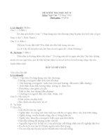 đề thi học kì II lớp 7