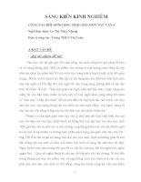 sáng kiến kinh nghiệm môn văn 9 công tác bồi dưỡng học sinh giỏi môn ngữ văn 9
