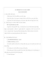 Giáo án Vật lý lớp 9 - SỰ NHIỄM TỪ CỦA SẮT, THÉP NAM CHÂM ĐIỆN potx