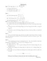 Bộ đề toán luyện thi lớp 10