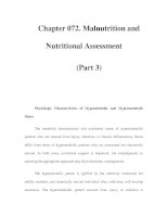 Chapter 072. Malnutrition and Nutritional Assessment (Part 3) pps