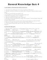 Cau Lac Bo Tieng Anh - General Knowledge Quiz 4
