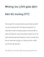 Những lưu ý khi giao dịch trên thị trường OTC pptx