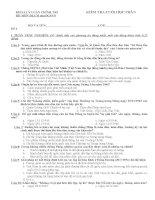 Đề thi tham khảo môn Tư tưởng Hồ Chí Minh - Phần 2 pptx