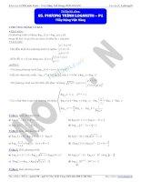 luyện toán về phương trình mũ và logarit