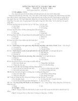 Đề thi học kì II Ngữ văn 6 (chuẩn)