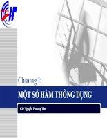 Giáo trình kế toán ứng dụng - Chương 1: MỘT SỐ HÀM THÔNG DỤNG pdf