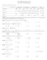 Toán 6- Đề kiểm tra -  có ma trận, đáp án và biểu điểm
