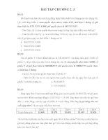 Bài tập quản trị rủi ro tài chính - Chương 2,3 pptx