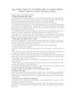 Bài 3: NHẬN THỨC LUẬN KHOA HỌC VÀ HOẠT ĐỘNG THỰC TIỄN CỦA CON NGƯỜI (3 TIẾT) pptx