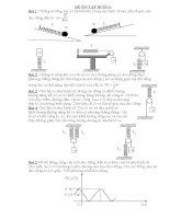 Tổng hợp bài tập cơ bản về dao động điều hòa