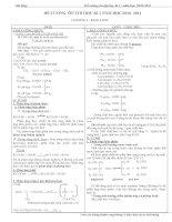 Đề cương ôn tập Hóa lớp 12 - Học kì 1 pps