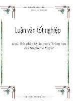 Luận văn: Bút pháp kỳ ảo trong Trăng non của Stephenie Meyer ppsx