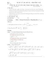giáo án dạy thêm toán 9 cả năm