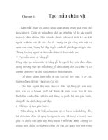 Phân tích quy trình chế tạo chân vịt, chương 6 pps