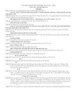 TÀI LIỆU ÔN LUYỆN ĐẠI HỌC TỰ LUẬN - ĐỀ 4