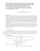 MỘT SỐ ĐIỀU CHỈNH TRONG THIẾT KẾ KẾT CẤU BÊ TÔNG CỐT THÉP BẰNG PHẦN MỀM SAP2000 ĐỂ PHÙ HỢP VỚI TIÊU CHUẨN VIỆT NAM ppsx