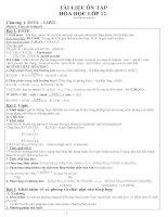 Tổng hợp Lý thuyết & Bài tập TN Hóa -12