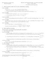 Mẫu đề thi môn toán của BGD năm 2010 có đáp án chi tiết