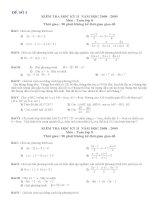 Bộ đề thi học kỳ II toán 8
