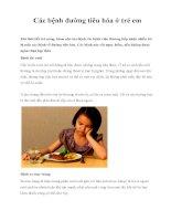 Các bệnh đường tiêu hóa ở trẻ em ppt