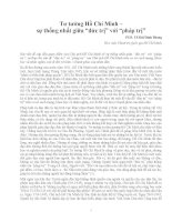 """Tư tưởng Hồ Chí Minh về sự thống nhất giữa """"đức trị"""" với """"pháp trị"""" potx"""