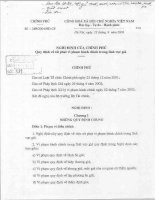 Nghị định của chính phủ Số: 169/2004/NĐ-CP do Chính phủ ban hành doc