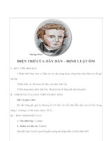 Giáo án Vật lý lớp 9 - ĐIỆN TRỞ CỦA DÂY DẪN – ĐỊNH LUẬT ÔM pdf