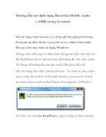 Hướng dẫn mở định dạng Recorded Mobile Audio (.AMR) trong Evernote docx