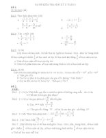 Đề kiểm tra học kỳ II toán lớp 6