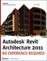 Autodesk Revit Architecture 2011 No Experience Required - part 1 pot