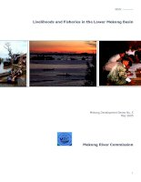 Livelihoods and Fisheries in the Lower Mekong Basin Mekong Development Series doc