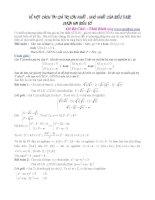Cách tìm giá trị lớn nhất, giá trị nhỏ nhất của biểu thức chứa hai biến số pot