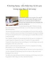 Chướng bụng - dấu hiệu hay bị bỏ qua trong ung thư cổ tử cung ppt