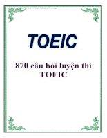 870 câu hỏi luyện thi TOEIC pdf