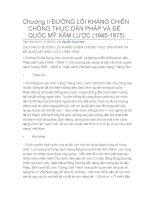 Chương II: ĐƯỜNG LỐI KHÁNG CHIẾN CHỐNG THỰC DÂN PHÁP VÀ ĐẾ QUỐC MỸ XÂM LƯỢC pps