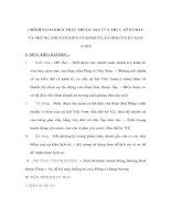 Lịch sử lớp 8 - CHÍNH SÁCH KHAI THÁC THUỘC ĐỊA CỦA THỰC DÂN PHÁP VÀ NHỮNG CHUYỂN BIẾN VỀ KINH TẾ, XÃ HỘI Ở VIỆT NAM pptx