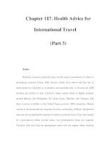 Chapter 117. Health Advice for International Travel (Part 3) potx